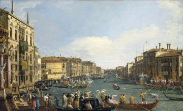 A Regatta On The Grand Canal Venezianische Venedig Canaletto Ölgemälde